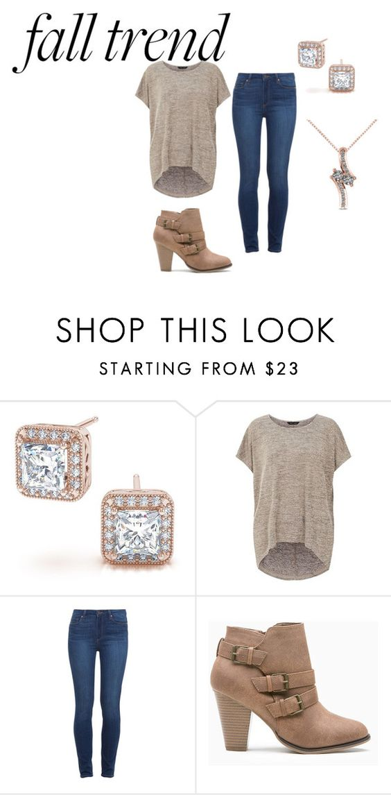 """""""#rosegold"""" by kendrapate ❤ liked on Polyvore featuring Paige Denim and Allurez"""
