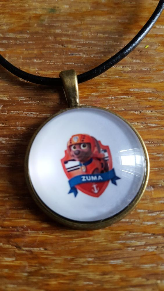 Zuma Paw Patrol Necklace by AwesomeOddities on Etsy