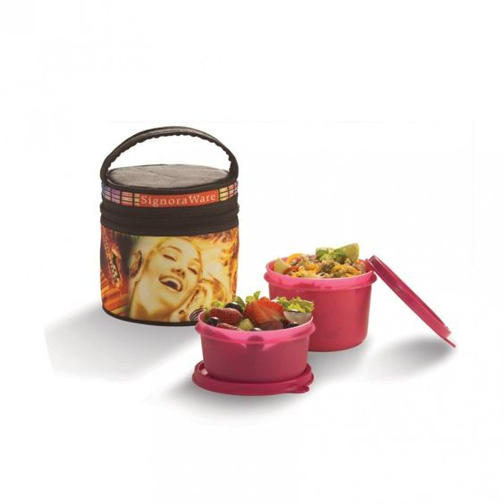 Signoraware P-9557 Jazz Executive Lunch Box Small With Bag Free Shipping