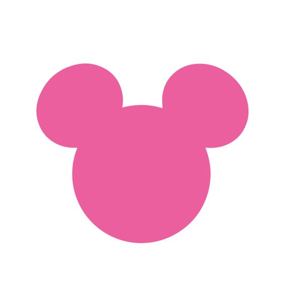 Free Mouse Silhouette Svg File Printable Party Decor Mickey Mouse Crafts Disney Diy Minnie Mouse Birthday Party Decorations