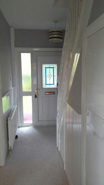 Grey and white Hallway