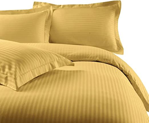Stripes Gold 300 Thread Count California King 8pc Bed In A Bag Comforter Set 100 Cotton Including Sheet Set Duvet Cover Sets King Size Duvet Covers Duvet Sets
