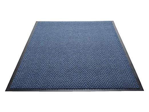 Guardian Golden Series Chevron Indoor Wiper Floor Mat Vinyl Polypropylene 2 X3 Blue Review With Images Vinyl Floor Mat Vinyl Flooring