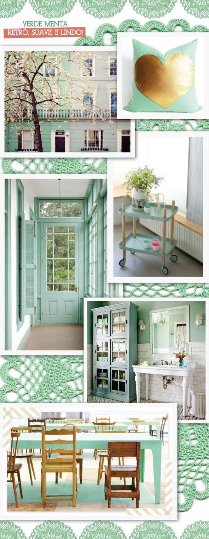 Mint green | A minha cor preferida do momento | A casa que minha vó queria