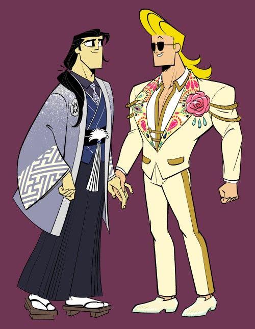 Samurai Jack And Johnny Bravo In 2020 Samurai Jack Samurai Bravo Johnny Bravo
