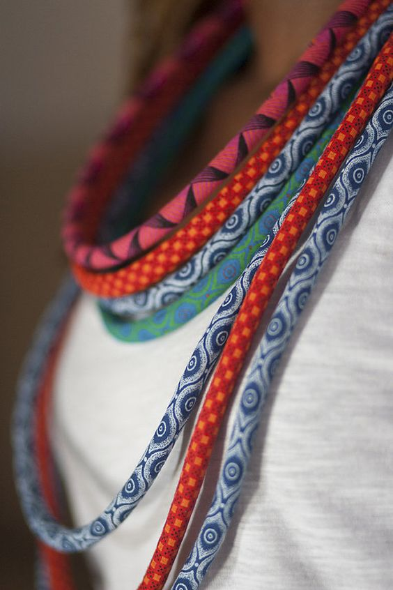 FREE SHIPPINGAfrican Necklace SetAfrican Print von NomiHandmade
