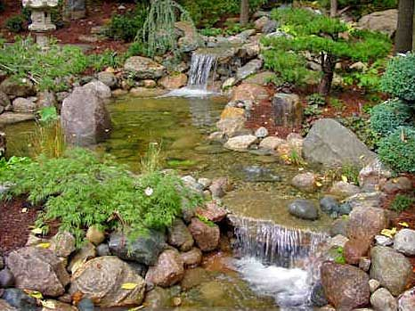 Ponds waterfalls and pond design on pinterest for Pond stream design