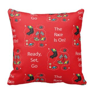 The Race Is On - Red Pillows