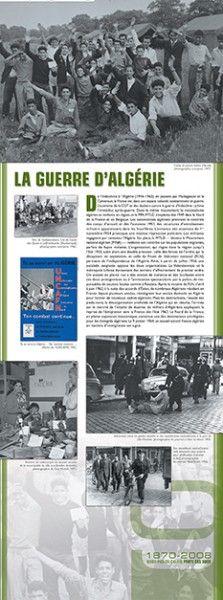 N°9 : La guerre d'Algérie - De l'Indochine à l'Algérie (1946-1962), en passant par Madagascar et le Cameroun, la France est, dans son espace colonial, constamment en guerre. L'activisme de la CGT et des dockers contre la guerre d'Indochine rythme l'immédiat après-guerre. Dans le même mouvement, le nationalisme algérien se renforce en région, et le PPA-MTLD s'implante dès 1949 dans le Nord de la France et en Belgique... © Groupe de recherche Achac