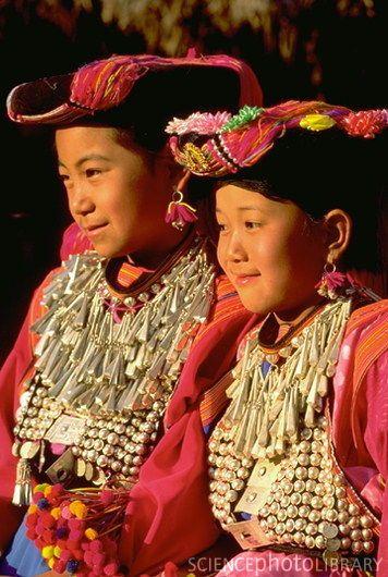 Children of the Lisu Hill tribe, Thailand