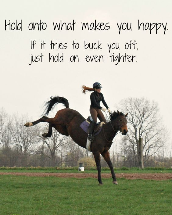 In riding & in life...