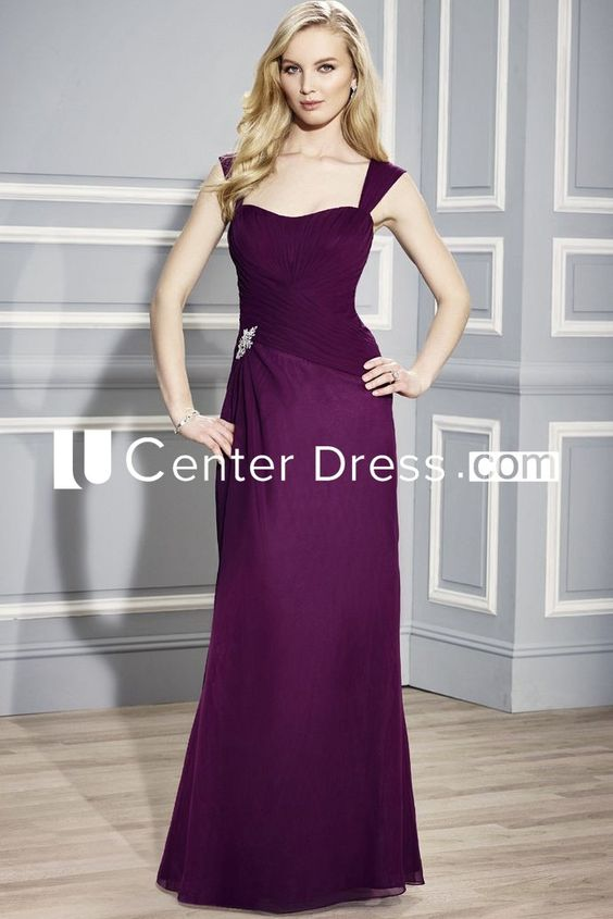 $135.19-Gorgeous Sleeveless Strapped Chiffon Purple Long Mother Of The Bride Dress. http://www.ucenterdress.com/sleeveless-strapped-chiffon-mother-of-the-bride-dress-with-criss-cross-pMK_300238.html.  Tailor Made mother of the groom dress/ mother of the brides dress at #UcenterDress. We offer a amazing collection of 800+ Mother of the Groom dresses so you can look your best on your daughter's or son's special day. Low Prices, Free Shipping. #motherdress