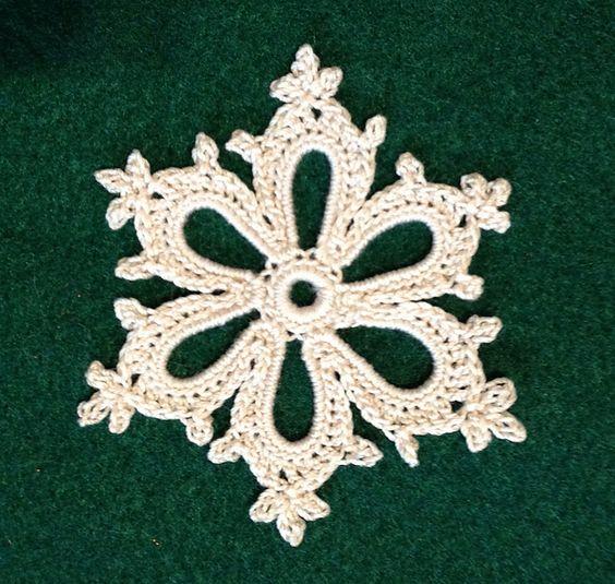 Ravelry: Irish Crochet Snowflake pattern by Courtney Brock~Free Pattern