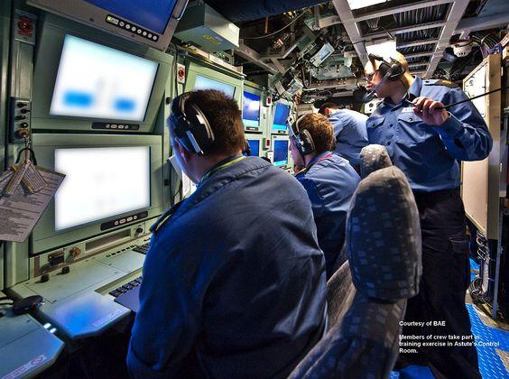 HMS Astute, Sonar screens: