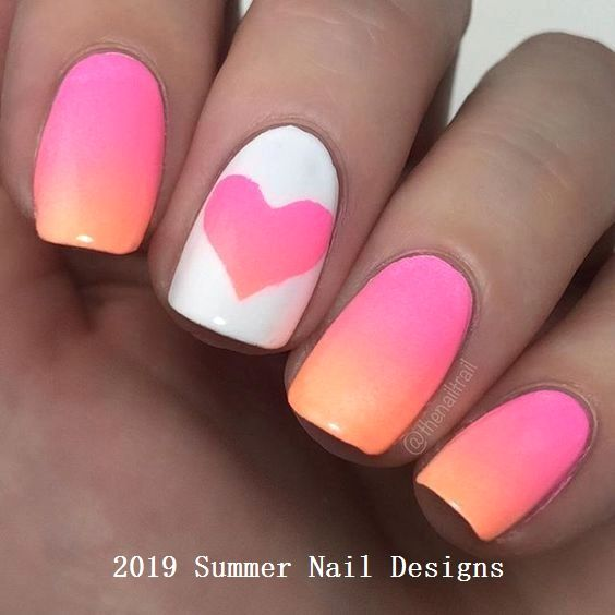 33 Cute Summer Nail Design Ideas 2019 Summernaildesigns Nail Cute Summer Nail Designs Kids Nail Designs Cute Nail Art Designs