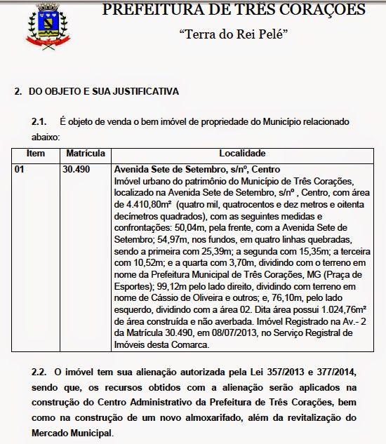 Folha do Sul - Blog do Paulão no ar desde 15/4/2012: COMEÇA A MAIOR CORRIDA IMOBILIÁRIA DE TRÊS CORAÇÕE...
