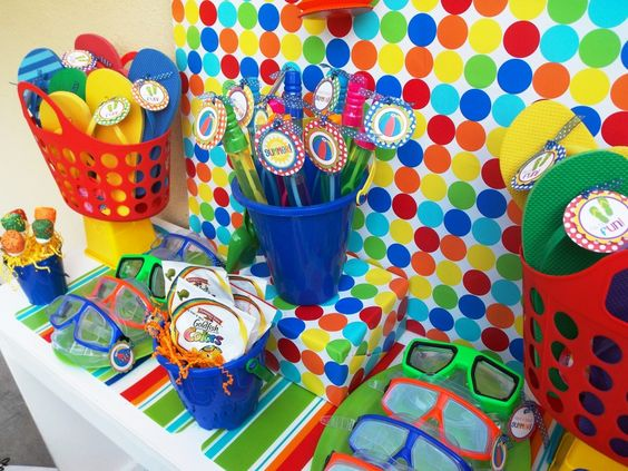 Pool party birthday ideas pinterest telones de fondo for Ideas para cumpleanos en piscina