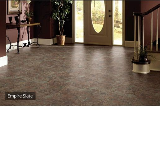 Luxury Vinyl Tile Coretec Plus Empire Slate 8mm X 12 X 24 20 Mil Surface Layer Textured With Attached C Luxury Vinyl Luxury Vinyl Tile Vinyl Tile Flooring