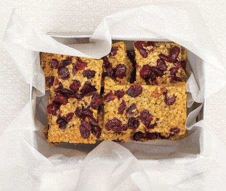 Cranberry Oat Bars Recipe | fom Claire Ptak and Henry Dimbleby's Leon cookbook | House & Home
