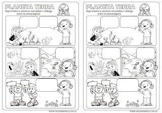 O Cantinho Do Saber Historia Em Quadrinhos Com Imagens