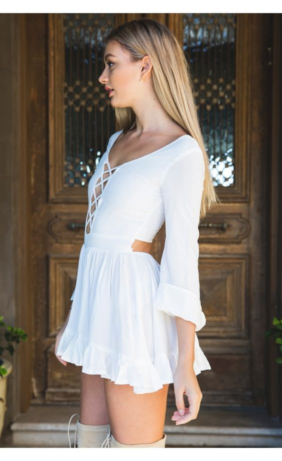 Feeling Alive Romper White - Clothes