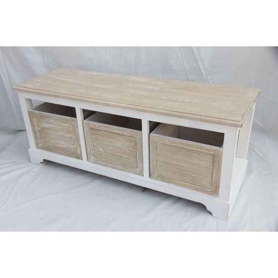 Shabby chic hallway bench antique storage box drawer entryway seat shoe cabinet in home Shoe cabinet bench