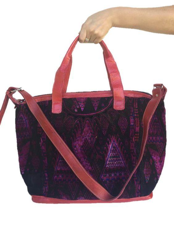 Verkauf über Nacht Weekender-Tasche mit von TheMayanMarket auf Etsy