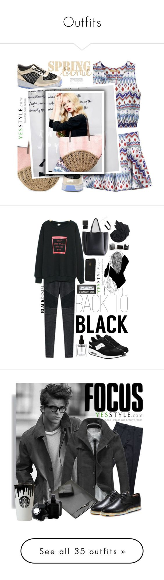 """""""Outfits"""" by tumblrcloset ❤ liked on Polyvore featuring Elf Sack, Spring, Pink, springfashion, yesstyle, PEPER, Gerbulan, YOOM, Seirios and 3 Concept Eyes"""