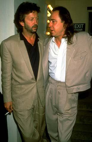 Eric Clapton and Stevie ray Vaughan