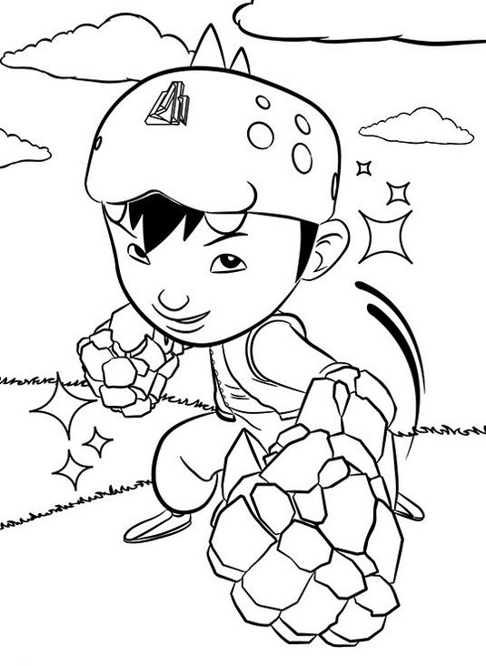 Bestboboiboy Coloring Page In Action Unicorn Coloring Pages Cartoon Coloring Pages Coloring For Kids