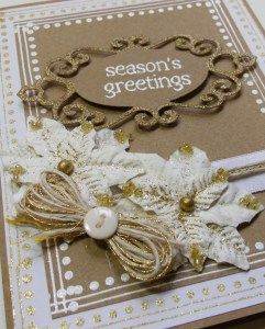 Shabby Chic Season's Greetings card by Paper Melody's