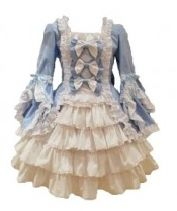Sweet Bow and Lace Multi-Layered Gothic Victorian Dress