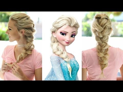 Frozen Elsa S Braid Hairstyle Simple And Beautiful Hairstyle Tutorial Youtube Elsa Braid Hairstyle Elsa Hair Hair Styles