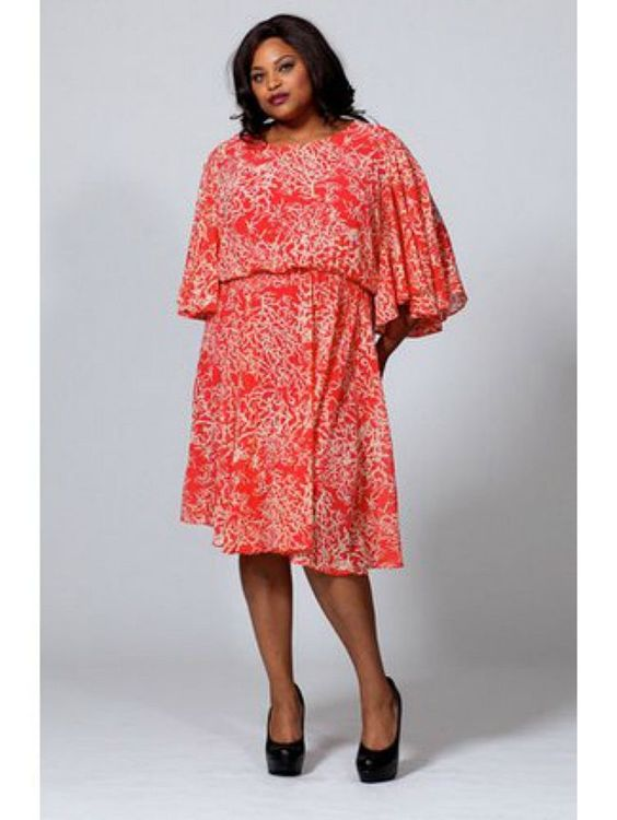 Details about Queen Grace Collection The Karrie Dress in Coral ...