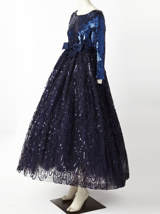 Sequined and Tulle Ball Gown attributed to George Halley