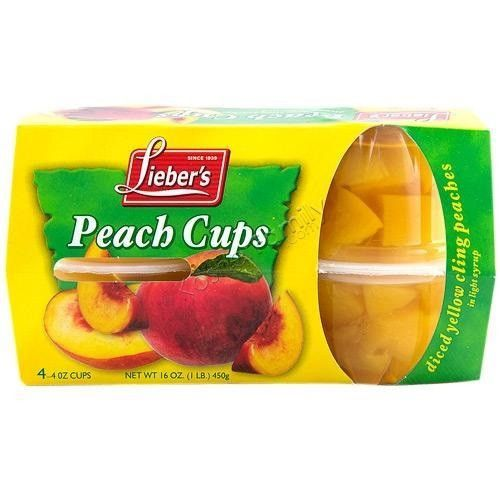 Liebers Peach Cups (6x4Pack)