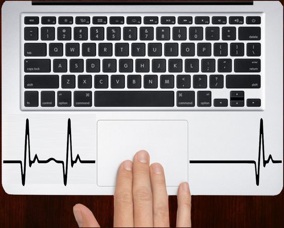 DecalOnTop.com - Heartbeat Pulse Decal Sticker For All keyboard trackpad laptop decals, $6.99 (http://www.decalontop.com/heartbeat-pulse-decal-sticker-for-all-keyboard-laptop-brands/)