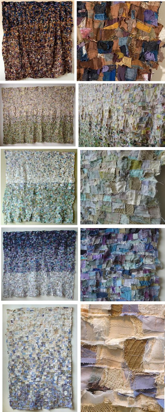 "Barbara Wisnoski, ""Barbara Wisnoski is a visual and tactile artist who creates 2.5D textile wall installations from recycled fabrics and clothing."" Narrative from website."