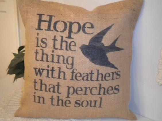 Hope Is Pillow Cover by BeiFioriEmbellish on Etsy, $12.00
