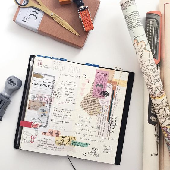 TN : Week 40 / 2016. #loveforanalogue #midori #midoritravelersnotebook #travelersnote #travelersnotebook #scrapbooking #planner #washi #washitape #stationery #stationeryporn #stationeryaddict #stationerylove #rubberstamp #cavallinipapers #文具 #文具控 #文房具 #手帳 #紙膠帶 #手帳好朋友 #印章