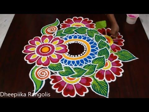 Happy New Year 2020 Rangoli And Kolam Designs By Dheepiika