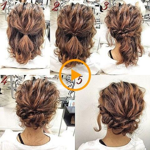 Styling Tips For Short Hairstyles In 2020 Hair Styles Simple Prom Hair Curly Hair Styles Naturally