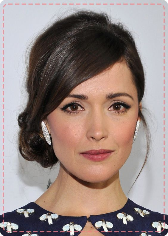 Awesome Rose Byrne39S Sleek Side Bun Ideas For Sis Pinterest Rose Hairstyle Inspiration Daily Dogsangcom
