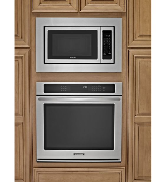 Microwave With Trim Kit And Built In Oven. This Is How Ours Will Look
