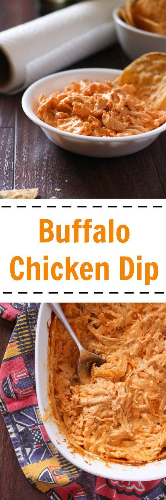 Buffalo chicken dip is spicy, creamy, and full of delicious chicken. It's…: