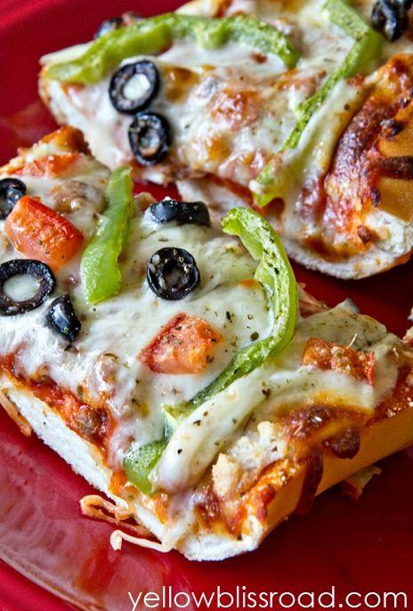 French Bread Pizza Dinner S In 20 Recipe Pizza