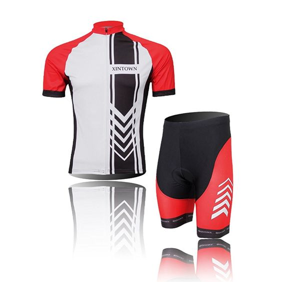 (Type:Set size:XL) Dry soft Tops perspiration Comfortable Quick Tights Sleeve Set Short pad Men Shirts Sportswear Breathable Cycling Cool Shorts Jersey ** Click image for more details.