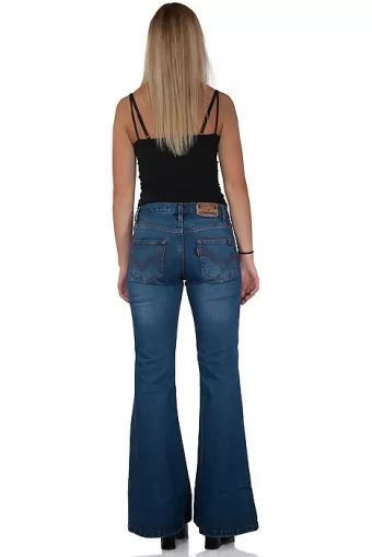 Woman flared denim jeans Star Paradise Reloaded