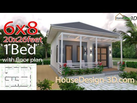 Studio House Plans 6x8 Hip Roof The House Has Car Parking And Garden Living Room Dining Room Kitc Small House Design Plans Tiny House Plans Small House Plans