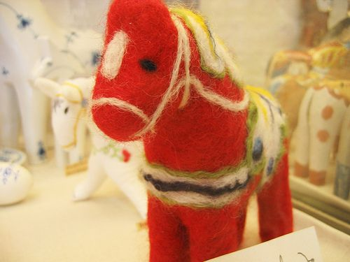 The felted Dala Horse